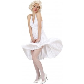 Ladies Marilyn- (Dress) Film Outfit - (White)