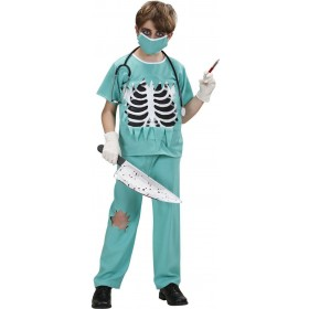 Boys Scary Surgeon (Shirt W/Chest Pants Face Mask) Halloween -