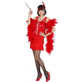 Ladies Red Roaring 20S Flapper- (Dress Headband) 1920'S Outfit - (Red)