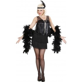 Ladies Black Roaring 20S Flapper- (Dress Headband) 1920'S - (Black)