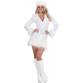 Ladies White Russian- (Dress Belt Hat) Russian Outfit - (White)