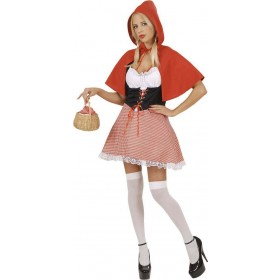 Red Capelet Adult Fancy Dress Costume Ladies (Cartoon)