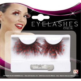 Ladies Ladybug Eyelashes (Glass Bottle Glue) Eyelashes - (Red, Black)