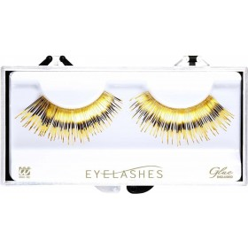 Metallic Gold Eyelashes (Glass Bottle Glue) Eyelashes - (Gold)