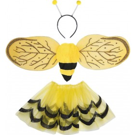 Girls Bee Dress Up Set - Child Accessories - (Yellow, Black)