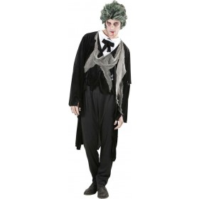 Mens Zombie Gentleman- (Jacket W/Shirt Vest Bow Tie) Halloween