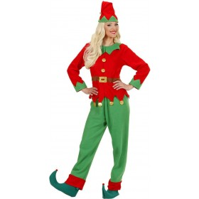 Ladies Santas Little Helper Elf Woman- (Coat Belt Pants Hat) -