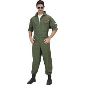 Mens Fighter Jet Pilot- (Jumpsuit) Pilot/Air Outfit (Green)