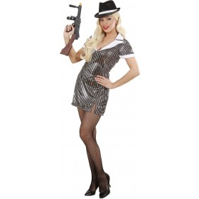 Ladies Gangster Girl- (Dress) Cops/Robbers Outfit (Grey)