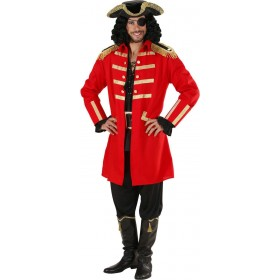 Mens Red Pirate / Captain- (Coat Hat) Pirates Outfit (Red)