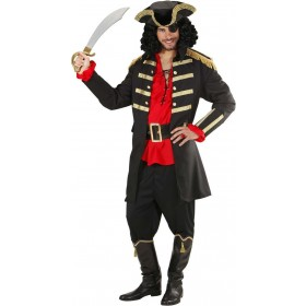 Mens Black Pirate / Captain- (Coat Hat) Pirates Outfit (Black)