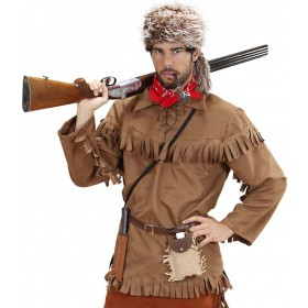 Mens Trapper- (Jacket Hat) Hunter Outfit (Brown)