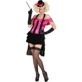 Ladies Burlesque Diva- (Dress Mini Top Hat) Burlesque - (Pink, Black)
