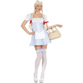 Ladies Miss Muffet - Light Blue- (Dress) Fairy Tales Outfit - (Blue)