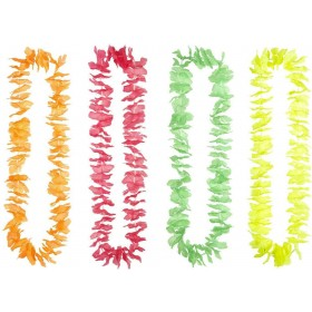 Neon Color Hawaiian Leis (Orange/Red/Green/Yellow) Accessories