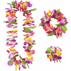 Maui Hawaiian Set (Lei Crown Cuff) Accessories
