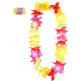 Flashing Light Multicolor Hawaiian Leis Accessories