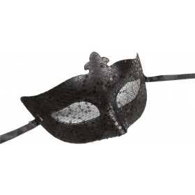 Sequin & Lace Eyemask - Black Eyemasks