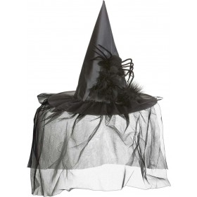 Witch Hats W/ Tulle Feathers & Spider Hats