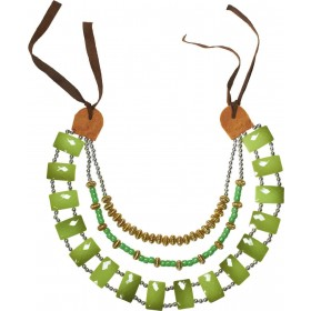Tribal Necklace With Green Gemstones Jewellery