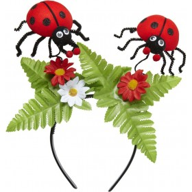 Ladybug Head Boppers W/Flowers Accessories