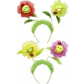 Flower Head Boppers (Pink/Red) Accessories