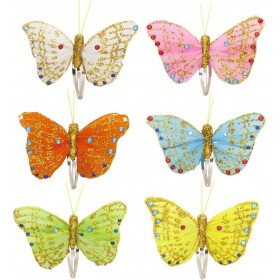 Single Butterfly Hair Clips (White/Pink/Orange/Blue/Green/Yellow) Accessories