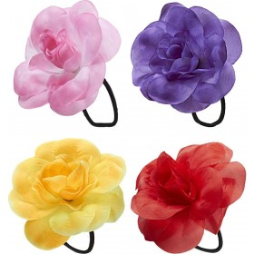 Hair Flower W/ Elastic (Yellow/Red/Pink/Purple) Accessories