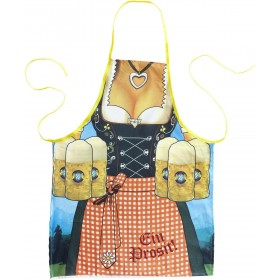 Ladies Bavarian Woman Apron Accessories - (Blue)