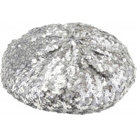 Sequin Basco Hat - Silver Hats - (Silver)