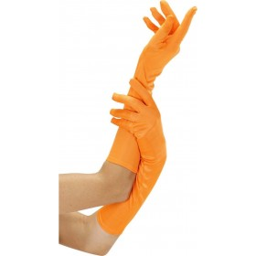 Ladies Neon Gloves Long - Orange Gloves - (Orange)