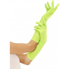 Ladies Neon Gloves Long - Green Gloves - (Green)