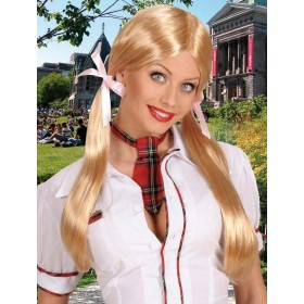 Schoolgirl Wig - Blonde - Fancy Dress (School)