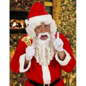 Santa Claus Curly Locks Wig & Beard, Mous Costume (Christmas)
