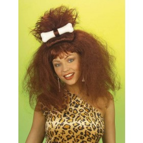 Caveman/Woman Wig W/Bone - Fancy Dress Ladies (Cavemen)