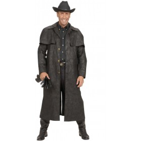 Black Duster Coats Fancy Dress Costume Mens (Film)