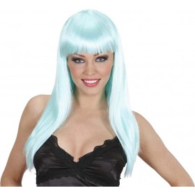 Ladies Beautiful Wig - Turquoise Wigs - (Turquoise, Blue)