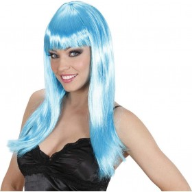 Ladies Beautiful Wig - Azure Wigs - (Blue)