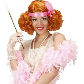 Ladies Ginger Burlesque Wig W/ Headband Wigs - (Ginger)