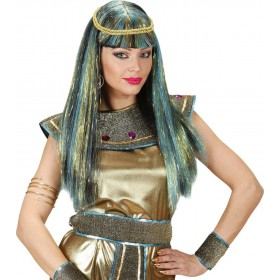 Ladies New Age Cleopatra Wig Boxed Green Wigs - (Green)