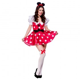 Ladies Sexy Mouse Animal Outfit - (Red,White)