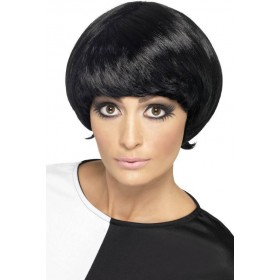 Ladies 60S Psychedelic Wig - (Black)