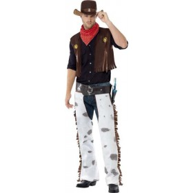 Mens Cowboy Costume Cowboys/Native Americans Outfit (Brown)