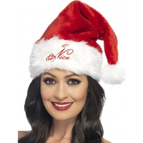 Adults Naughty Or Nice Hat Christmas Fancy Dress Accessory