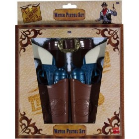 Western Water Pistol Set - Fancy Dress Mens (Cowboys/Native Americans)