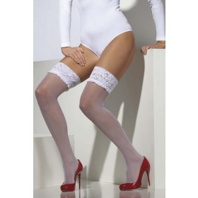 Ladies Sheer Hold-Ups Tights - (White)