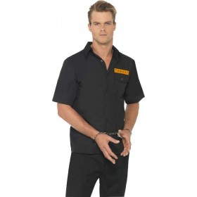 Mens Prison Shirt Cops/Robbers Outfit (Orange)