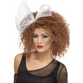 Ladies 80'S Wild Child Wig - (Brown)