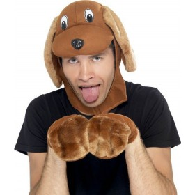 Mens Dog Kit Hats - (Brown)