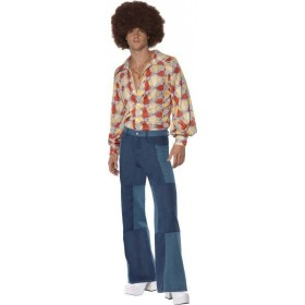 Mens 1970'S Retro Costume Disco Outfit